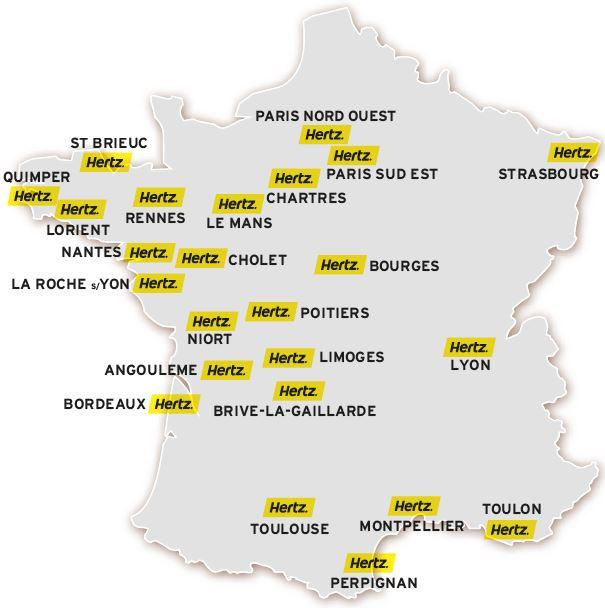 Carte agences location camping-car