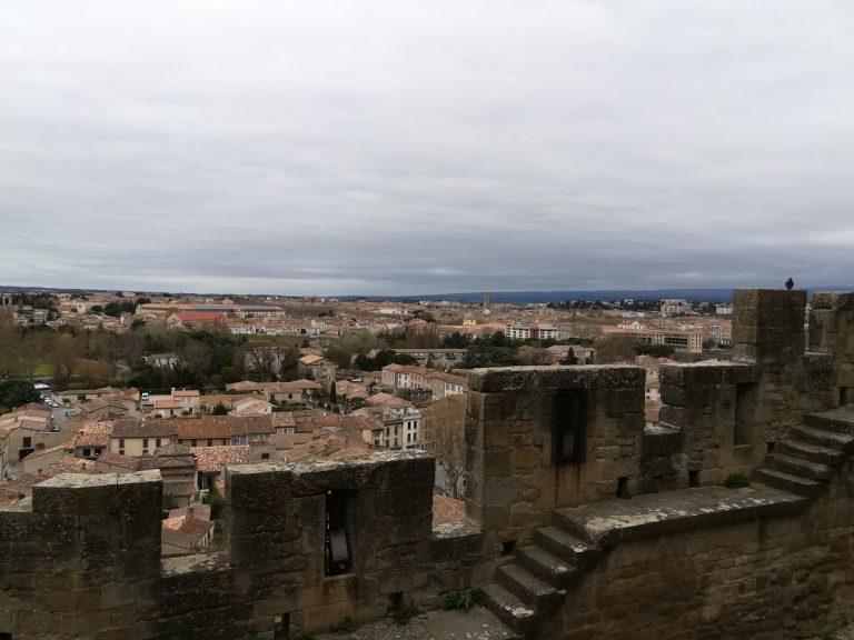 Vue sur Carcassonne depuis les remparts