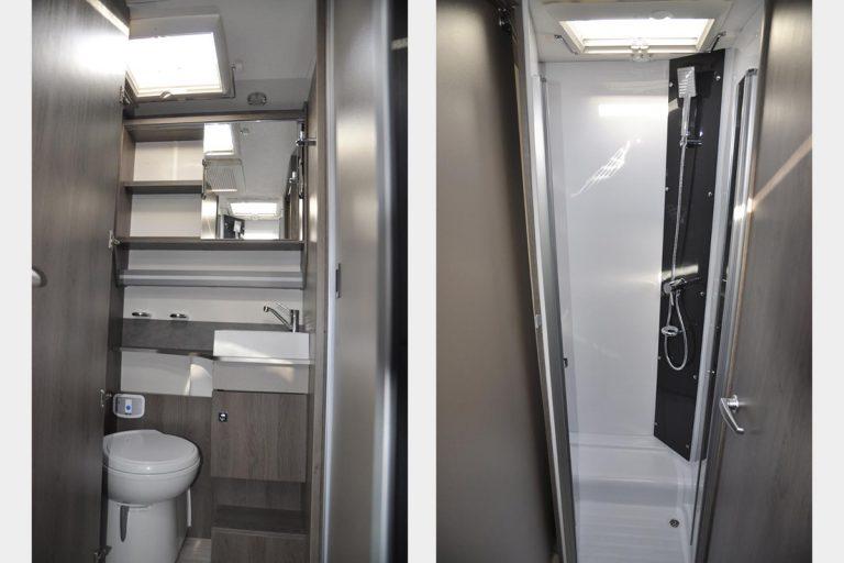 WC et douche séparée