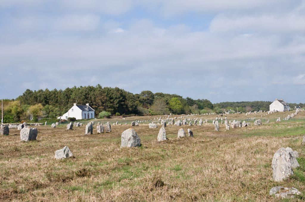 Alignement de menhirs à Carnac (Morbihan, Bretagne, France)