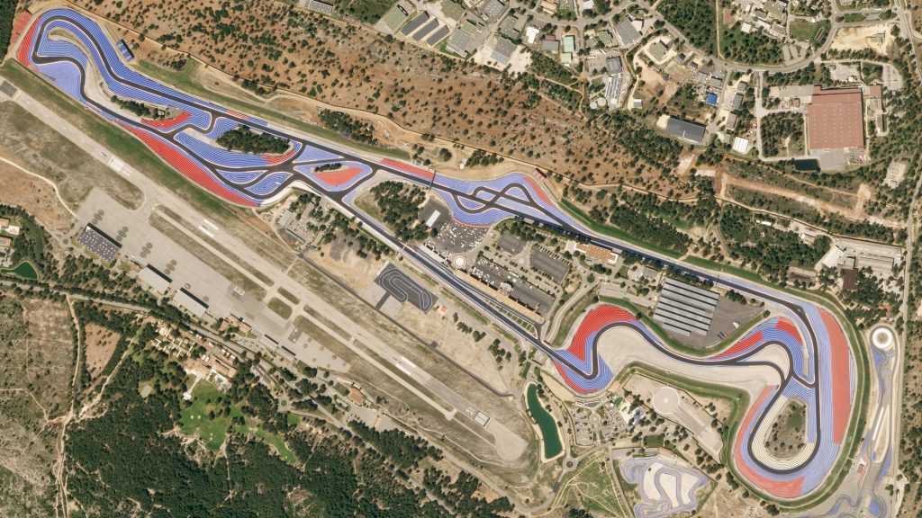 Vue satellite du circuit Paul Ricard