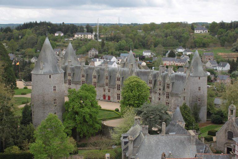 Le chateau de Josselin, coté jardin