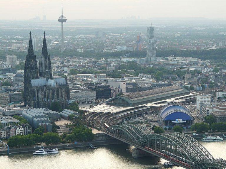Cologne vue du ciel