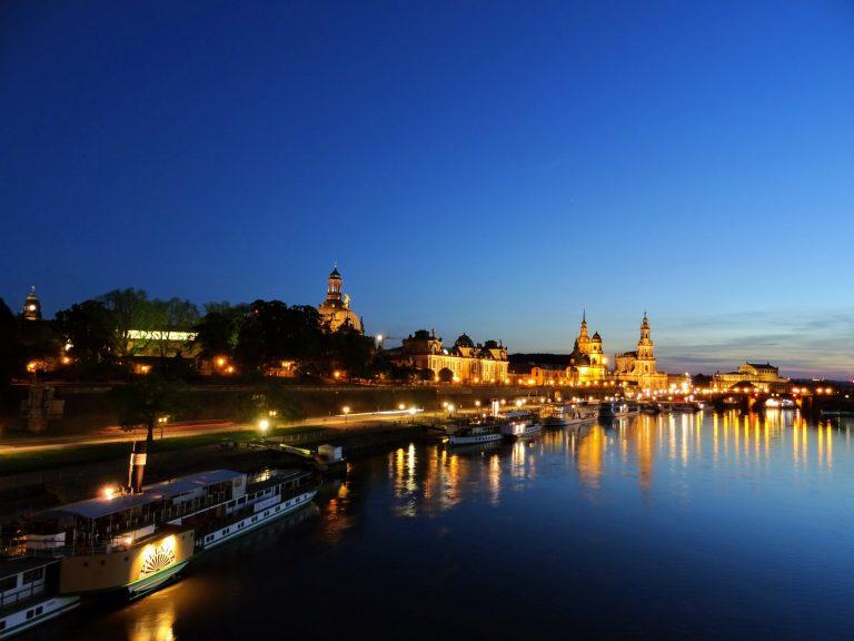 Dresde vue de l'Elbe