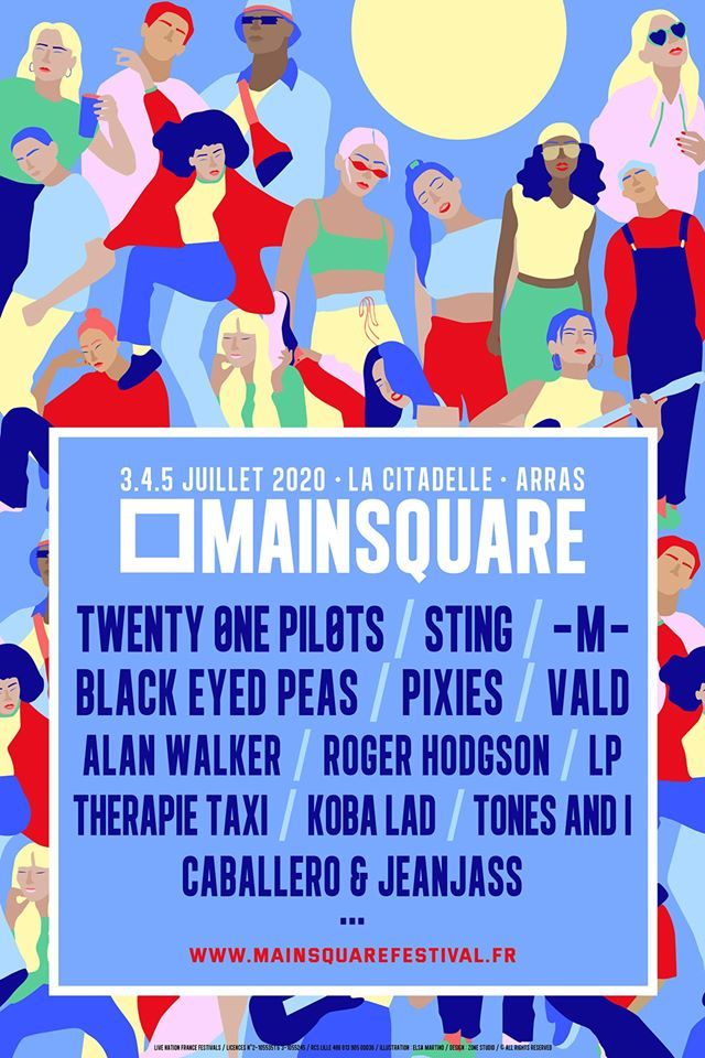 festival en 2020 en France, en camping car : main square 2020